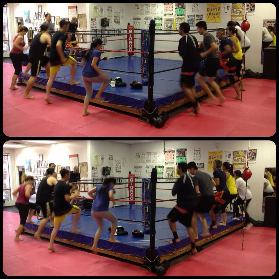 Cardio Muay Thai Kickboxing Vancouver-dual shot