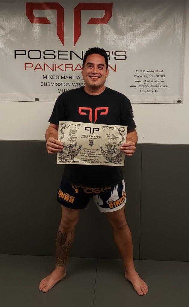 Posener's MMA Vancouver Costa Rojas 3rd degree certification